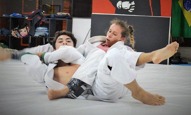 Sexy female judo