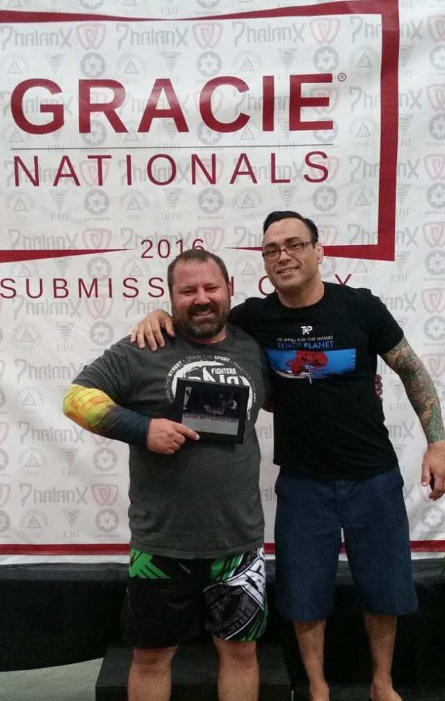 Photo of Don Daubert and Eddie Bravo. Used with permission of Don Daubert