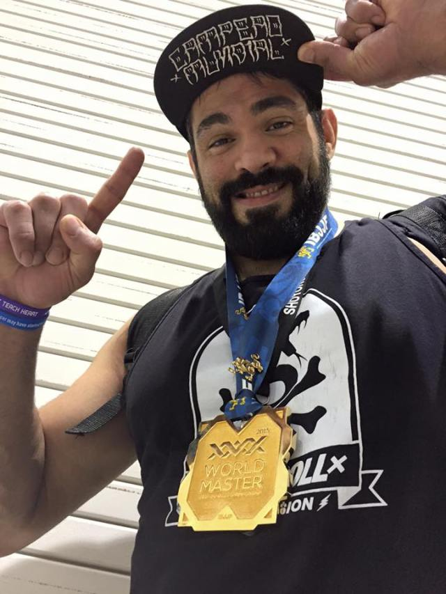 "James ""300"" Foster after the 2015 IBJJF Masters World Championships--photo courtesy of James Foster"