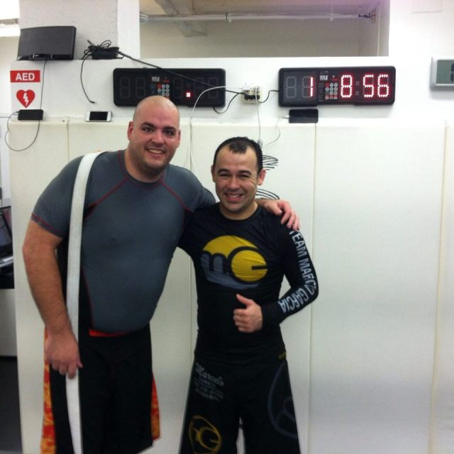 Patrick pays a visit to Marcelo Garcia's Academy in New York--photo courtesy of Patrick Pallies