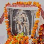 Radha Krishna and Jiva Gosvami at Radhakunda