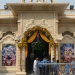 Entrance Krsna Balaram Mandir Vrindavan
