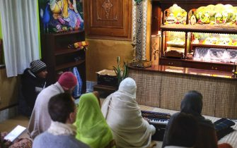 Morning Kirtan at Jiva