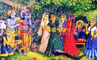 Krsna and Balaram with gojis