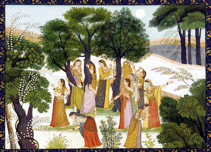 Gopis searching for Krishna / harekrsna.de