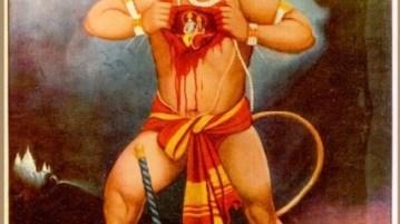 The celebration of Hanuman Jayanti