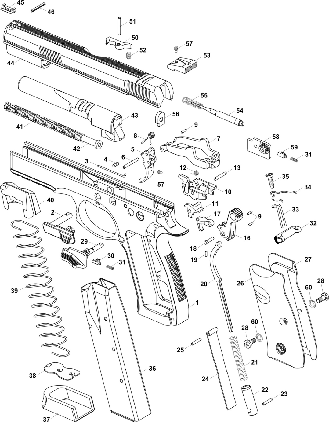 Sti Limited Gun Disassembled