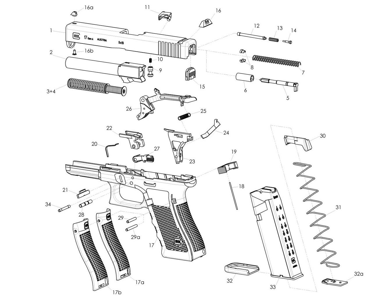 Spare Parts Glock Gen 4