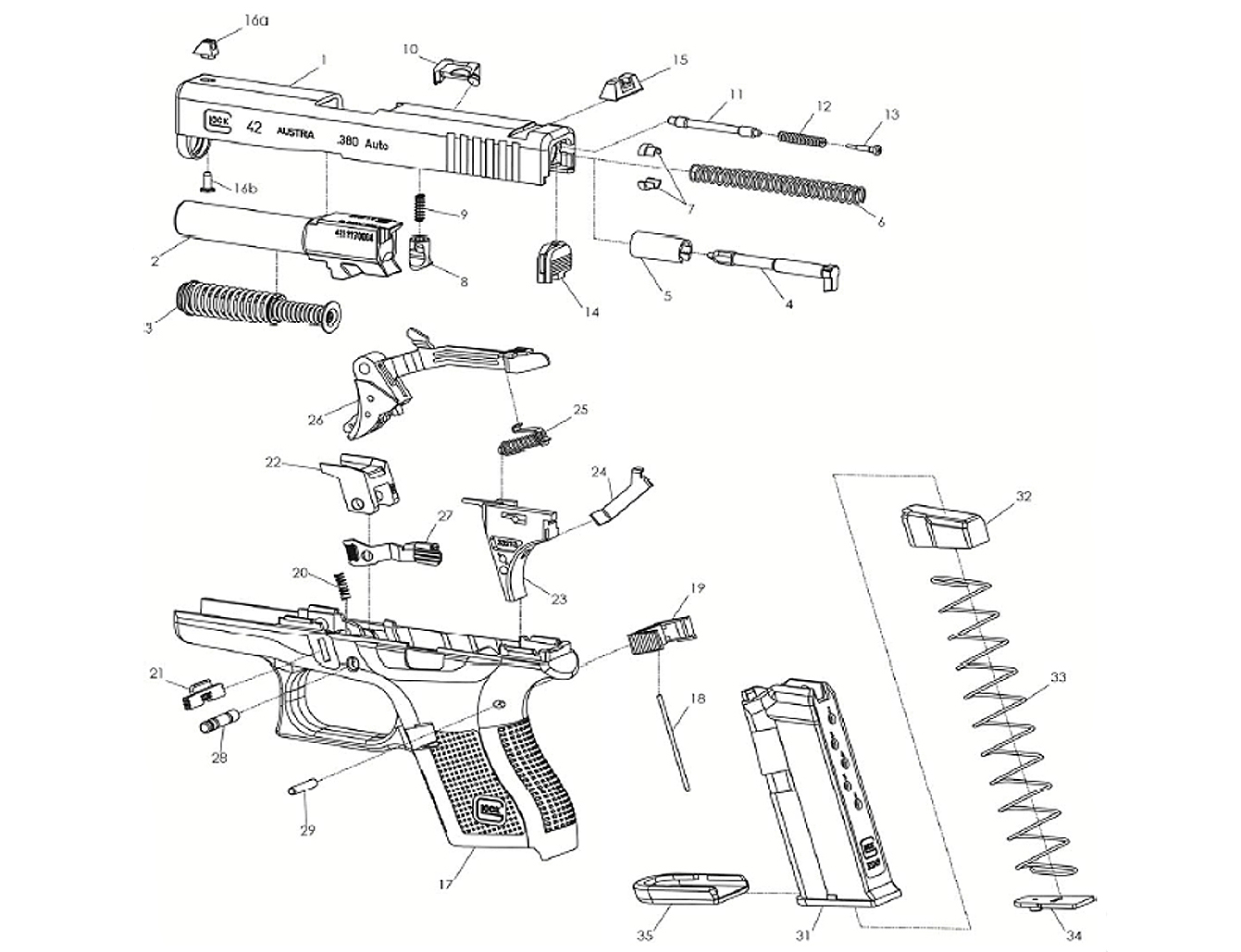 Spare Parts Glock Slimline
