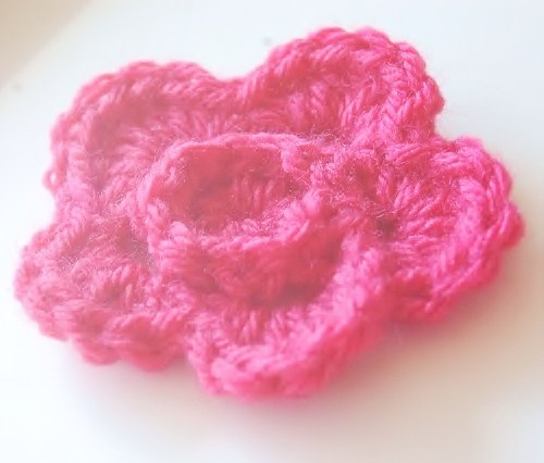 Crochet Ridged Flower Pattern