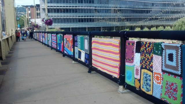 Shot of the installed panels during the Community Celebration.