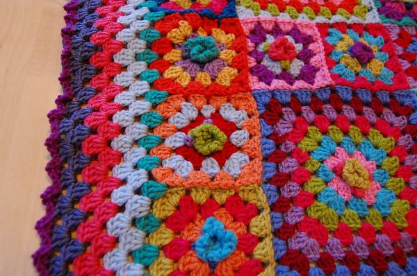 Crochet Afghan - Granny Square Ripple Blanket JJCrochet