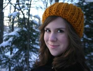mustard yellow knit hat, jjcrochet