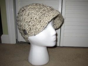 JJCrochet's crochet newsboy hat pattern