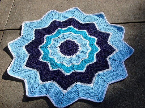 crochet baby blanket - star