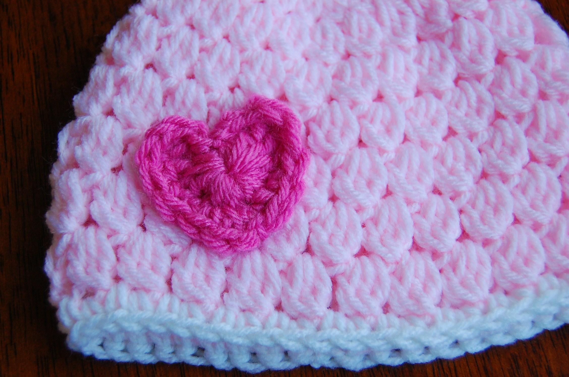Free Girls Crochet Hat Pattern With Heart