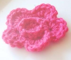 Crochet Ridged Flower Pattern