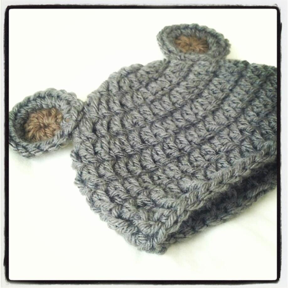 Newborn Bear Hat Crochet Pattern Crochet Baby Bear Hat