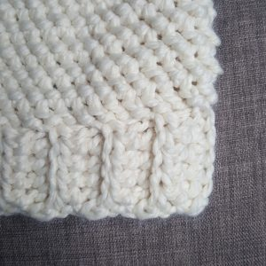 crocheted ribbed hat brim