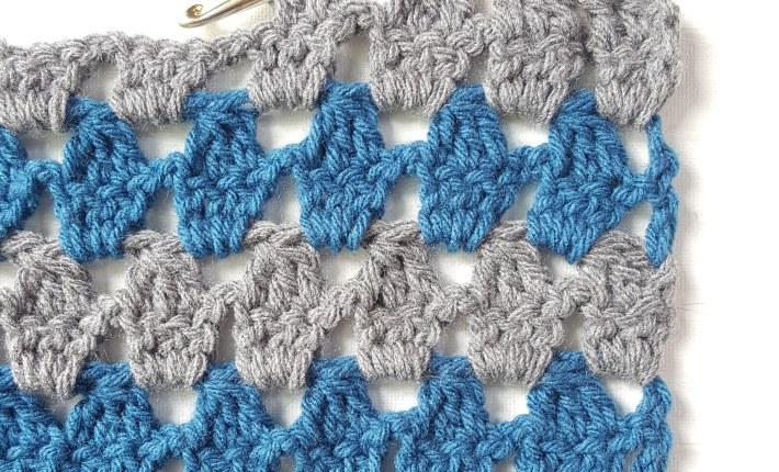 crochet modern granny square stitch