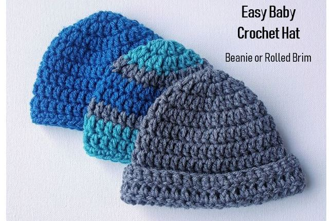 Easy Baby Crochet Hat Pattern
