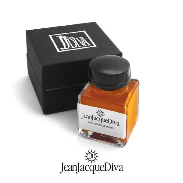 boccetta-inchiostro-per-stilografica-colore-arancio-Ink-jeanjacquediva-jjd1959