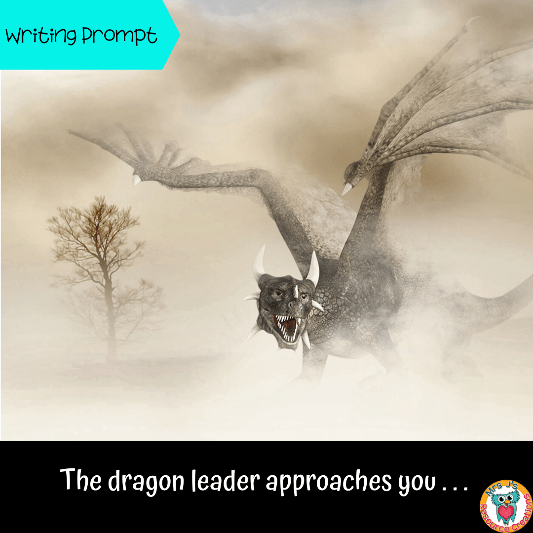 Dragon Writing Prompt Activity