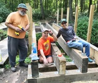 Mike Surdej, Rob Cummings, and Steve Warshauer at bridge #1