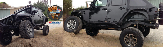 BFGoodrich All-Terrain TA KO2 Tires Mounted on JK Jeep Wrangler Featured