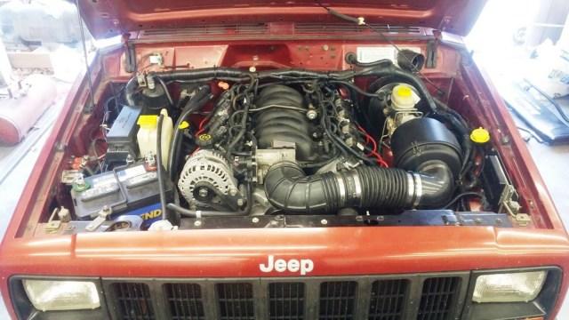 how to ls swap a jeep xj cherokee (photos) jk forum 2000 jeep cherokee wiring  harness 1989 xj jeep wiring harness