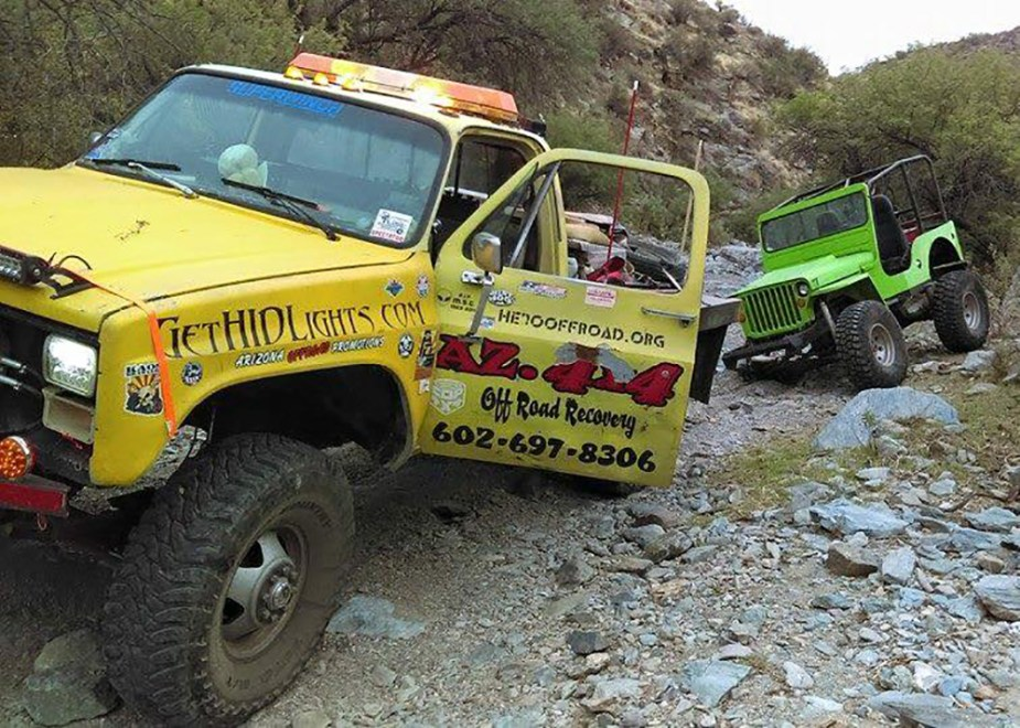 When you're on the trail, expect to get stuck sometimes.