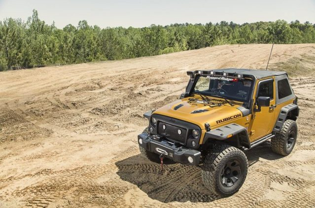 The Rugged Ridge soft top is a welcome addition to any Wrangler.