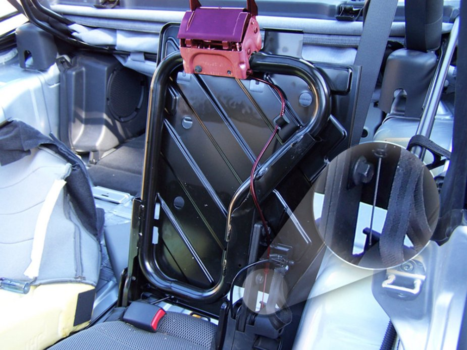 JKU Rear Seat without Skin