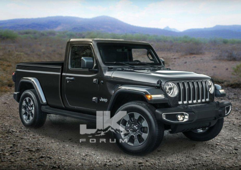 Jeep Scrambler Truck Regular Cab Concept Front