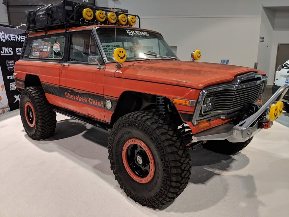 classic jeep cherokee chief kicks it old school - jk-forum