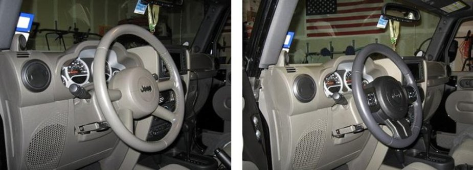 2008 Jeep with 2011 Steering Wheel Side