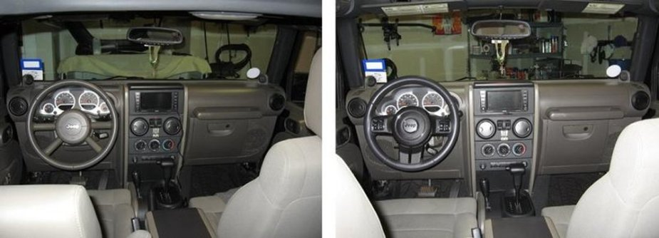 2008 Jeep Wrangler with 2011 Wheel