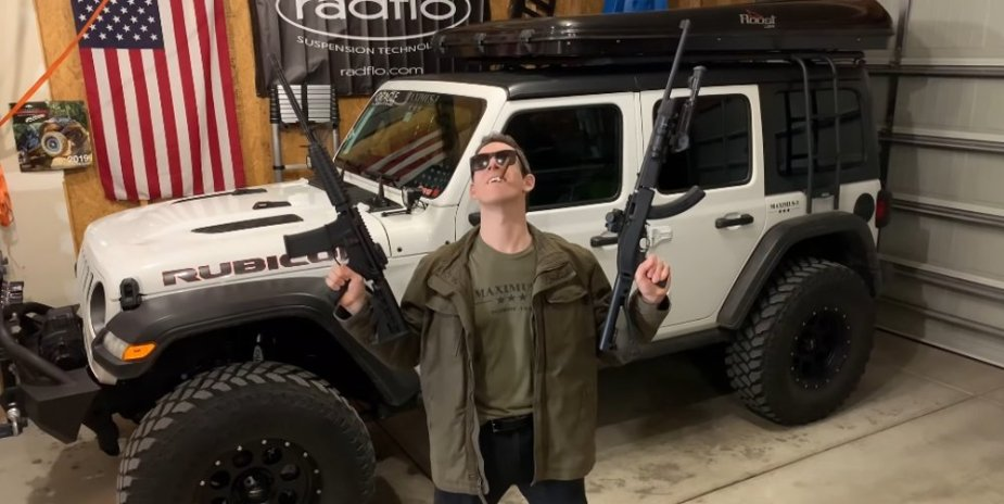 Jeep Wrangler with Guns