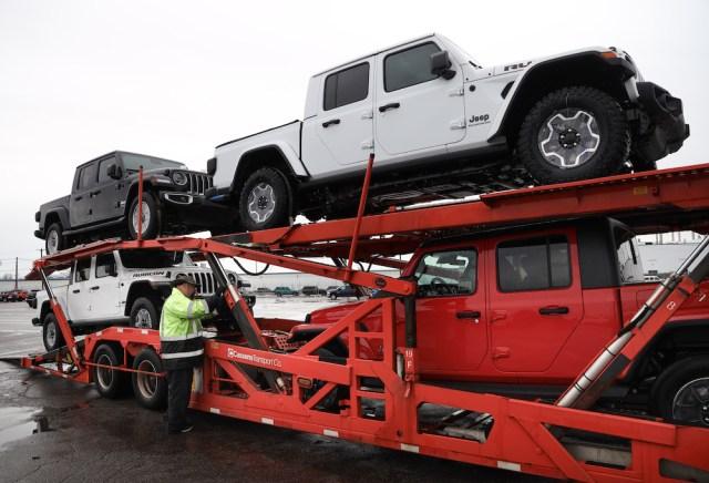 2019 Jeep Gladiators ready for shipment.