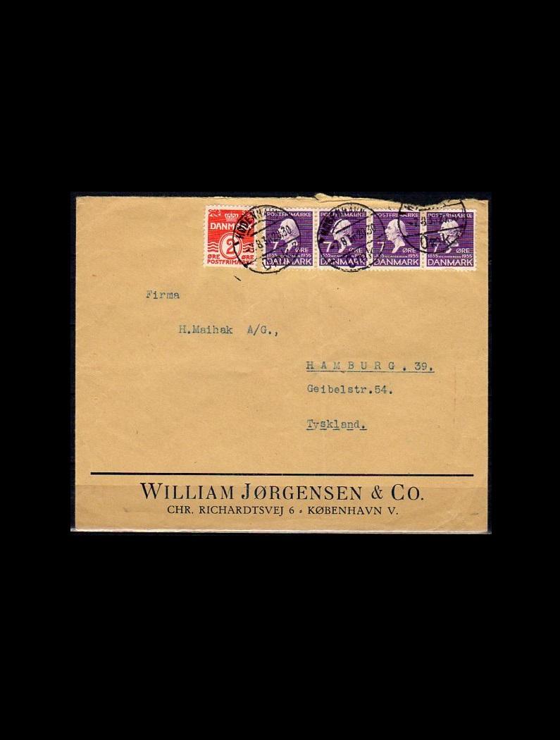 AFA 197+224 på brev