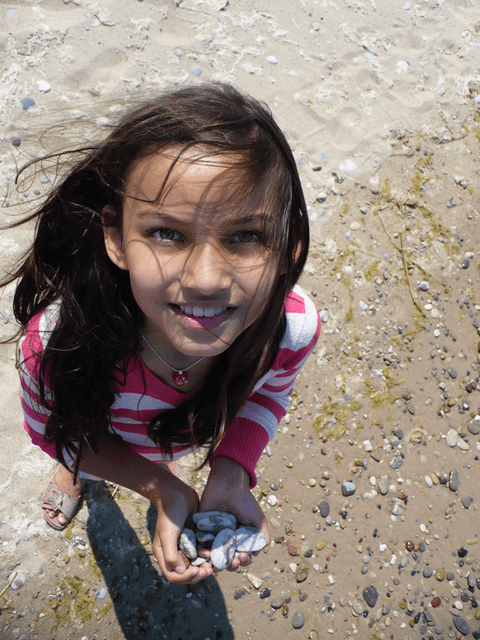 Sophia at the beach