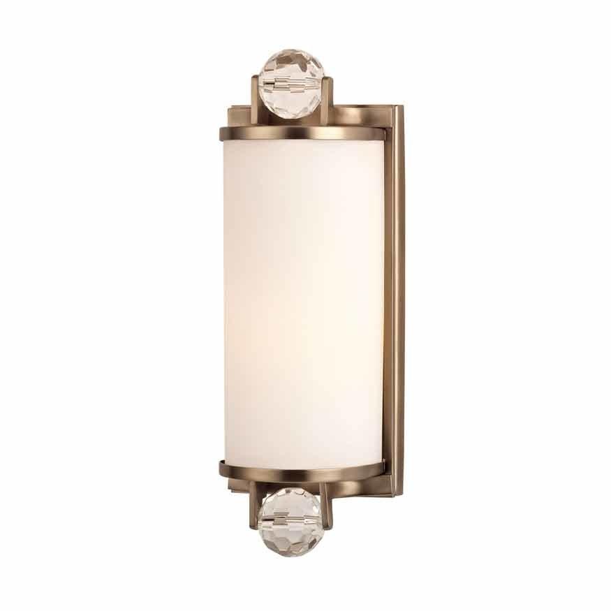 Hudson Valley Prescott 1 Light Bathroom Sconce - Brushed ... on Bathroom Sconce Lights Brushed Bronze id=33865