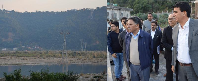 Advisor to the Governor, Khurshid Ahmed Ganai today visited the construction site of prestigious Jammu Ropeway Project and took stock of the progress of ongoing works
