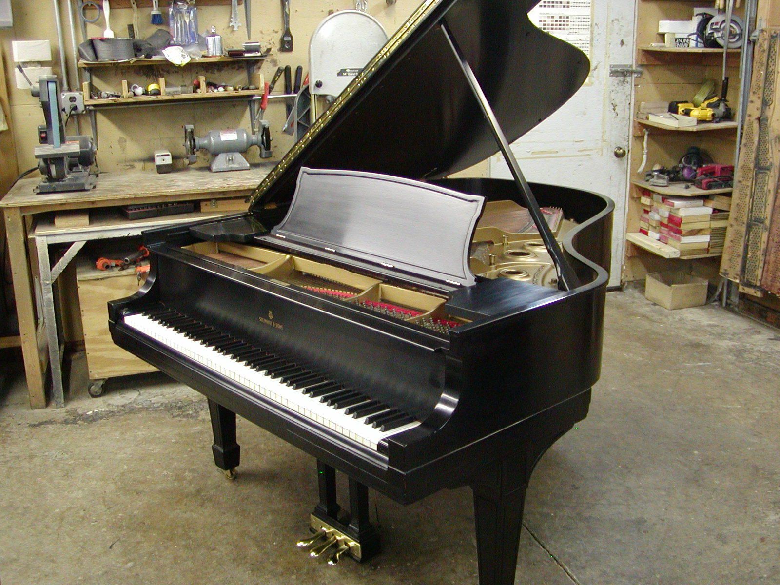 "7' Steinway ""L"" ebony serial #259301 and built in 1927."