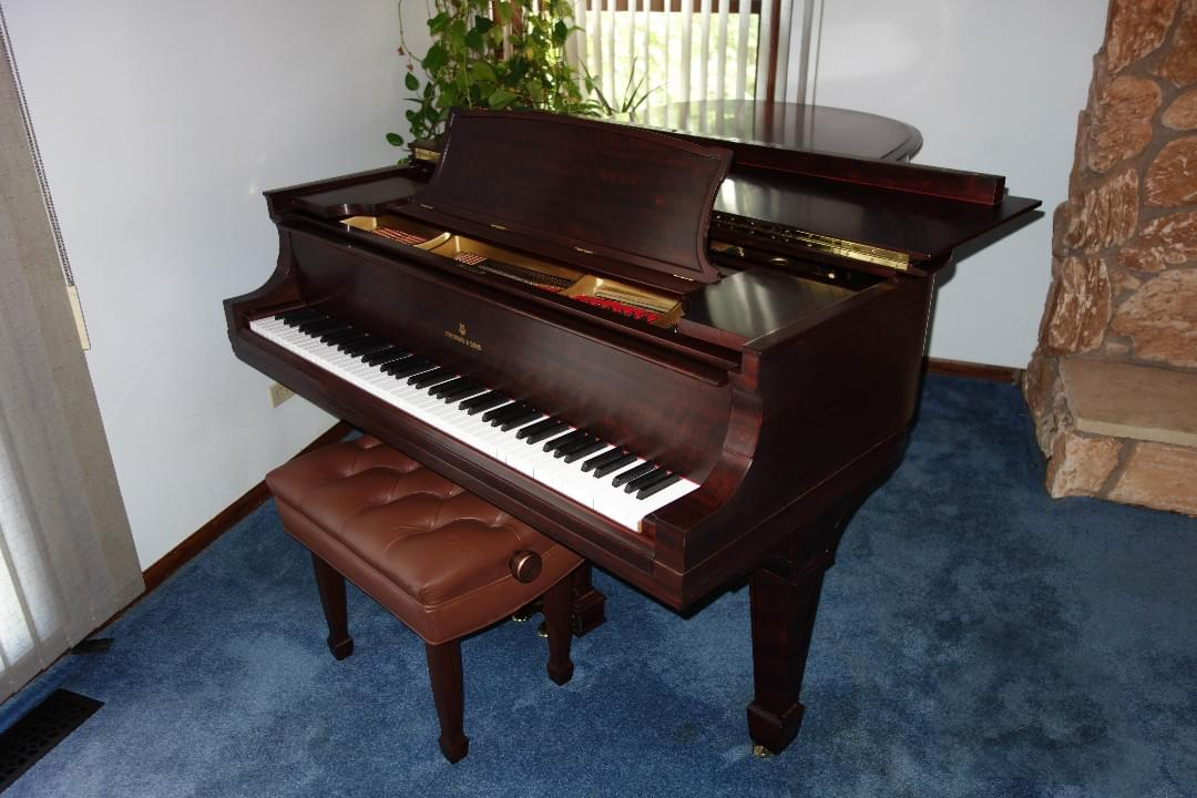 "Steinway Long ""A"" 6'4"" Mahogany serial 186347 built in 1917"