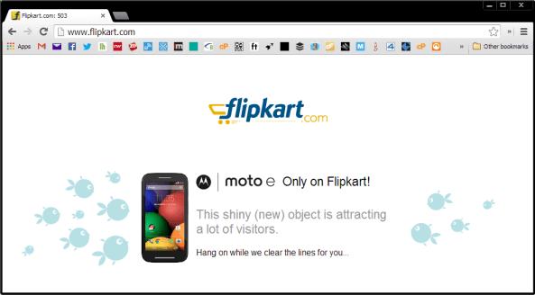 Flipkart.com 503 message