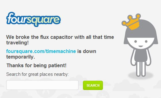 Foursquare Server busy/down message