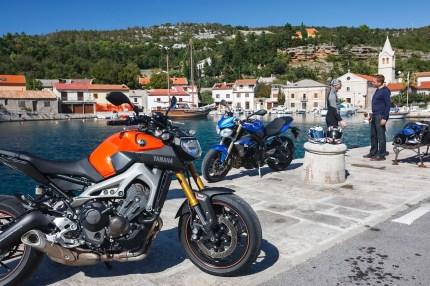 VT Triumph Street Triple, Yamaha MT-09, MRD Heft 23/13, Kroatien