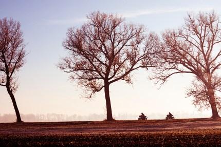 AS BMW R nineT Cafe Racer, Triumph Thruxton, Fuel 1/17 Cafe Racer Ausfahrt nach Polen, Märkische Schweiz