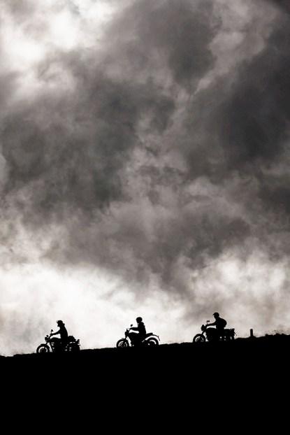 Ducati Scrambler, Moto Guzzi V7 Scrambler, Triumph Scrambler, Scrambler Impressionen, MRD Heft 21/15, Susatal, Italien